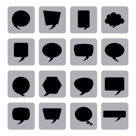 speech ballons: speech poster design