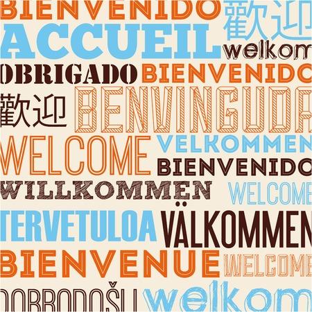 언어 포스터 디자인 일러스트