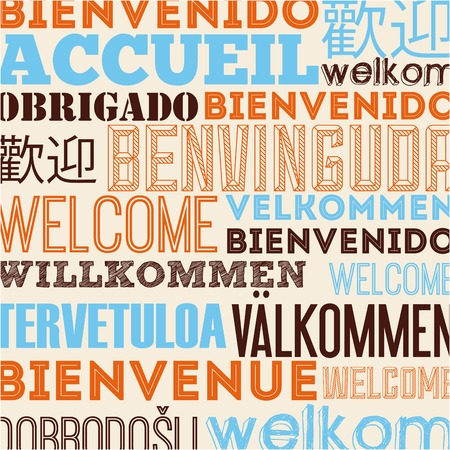 welcome symbol: language poster design