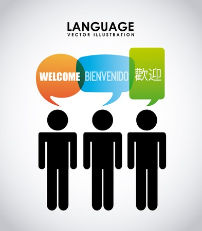 bienvenido: language poster design