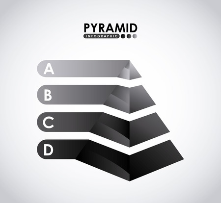 d data: pyramid infographic
