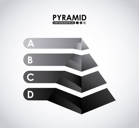d data: pyramid infographic