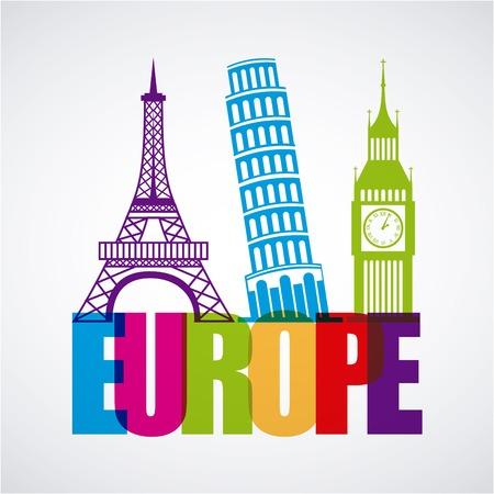 london big ben: europe design Illustration