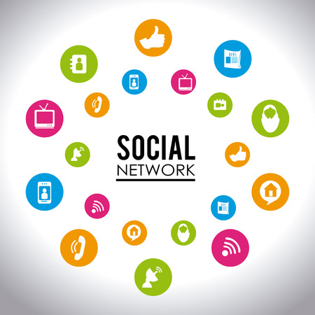 antena: Social media design over white background,vector illustration. Illustration