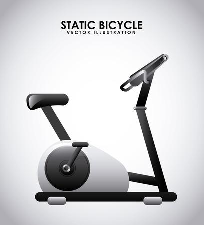 static bike: gym label design