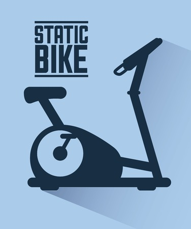 static bike: gym label design