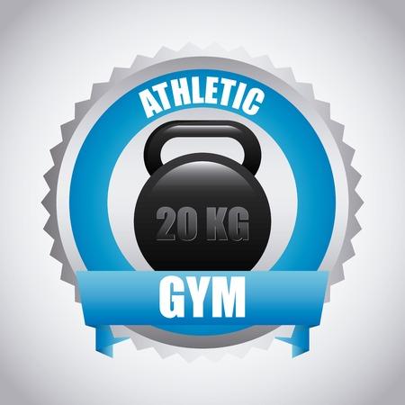 trainer device: gym design Illustration