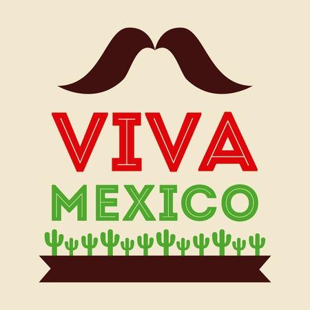mexican icon design Vector