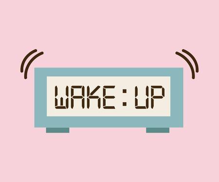 wake up design Illustration