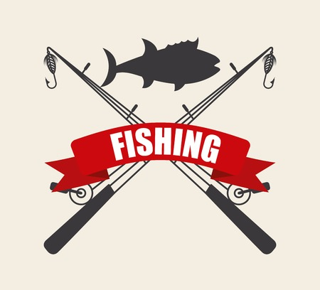 expensive food: fishing icon Illustration