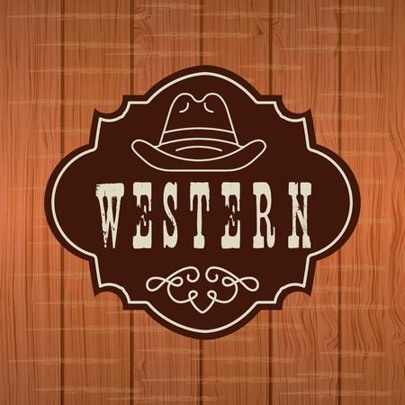 western banner design Illustration