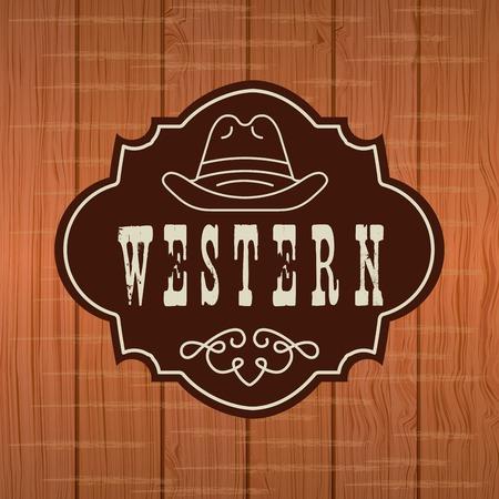 westelijke banner ontwerp