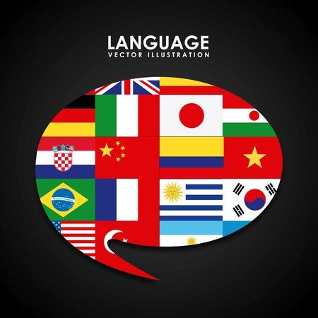 Conception de l'affiche de la langue Banque d'images - 34594600
