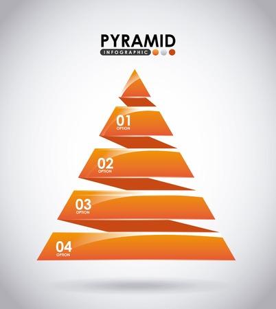 pyramid: pyramid infographic