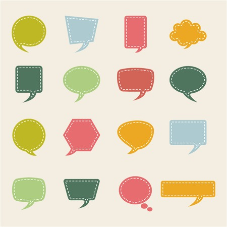 speech ballons: bubbles vector design