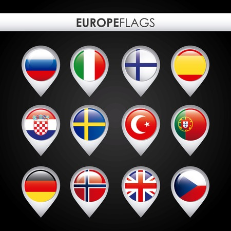 europe flags: europe flags design