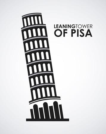 pisa: ltower of pisa Illustration