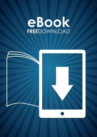 free button: ebook design , vector illustration