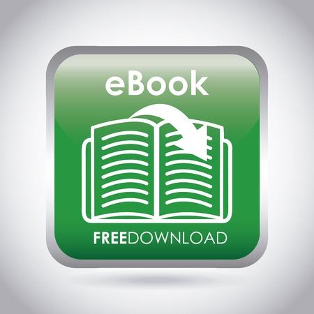e magazine: ebook design , vector illustration