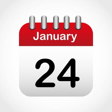 Icono del calendario de diseño Foto de archivo - 34657252
