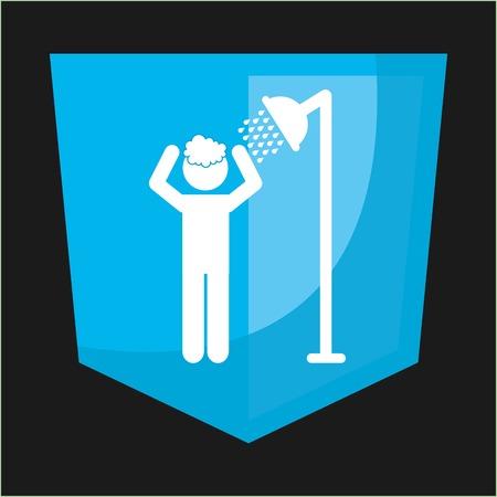 showering: shower silhouette design