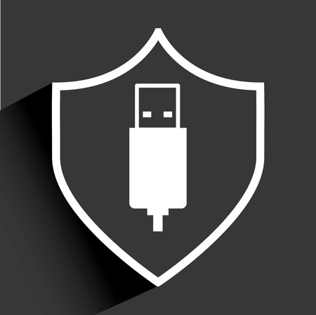 usb security Vector