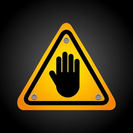 caution: caution  signal Illustration