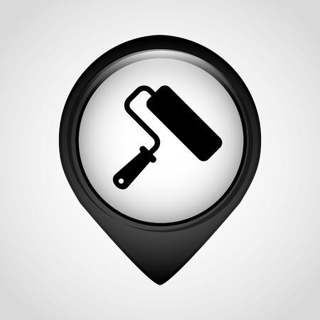 tool icon: Icona strumento di progettazione Vettoriali