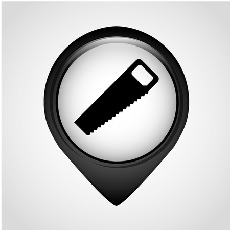 handsaw: tool icon design