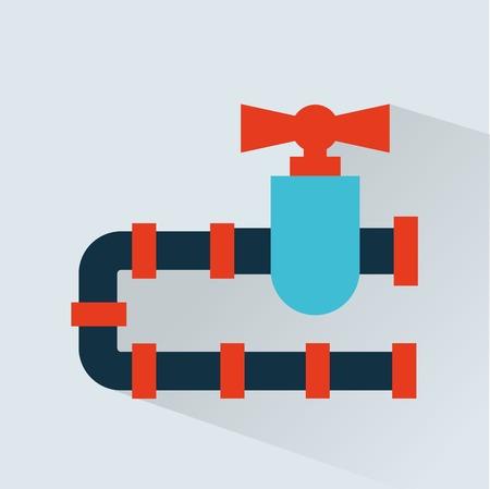 bomba de agua: tubería icono del diseño, ilustración vectorial gráfico eps10