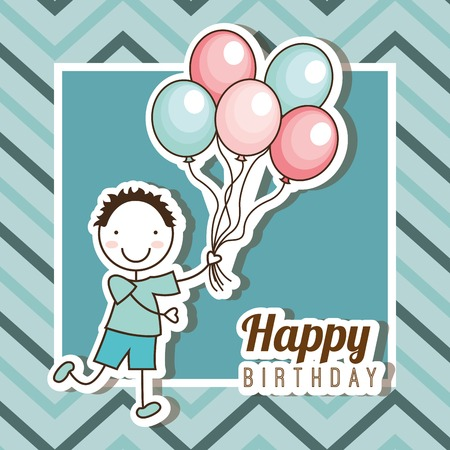 smile happy: happy birthday design, vector illustration eps10 graphic
