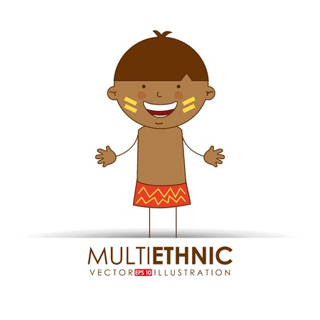 multi cultural: multi ethnic design, vector illustration eps10 graphic Illustration