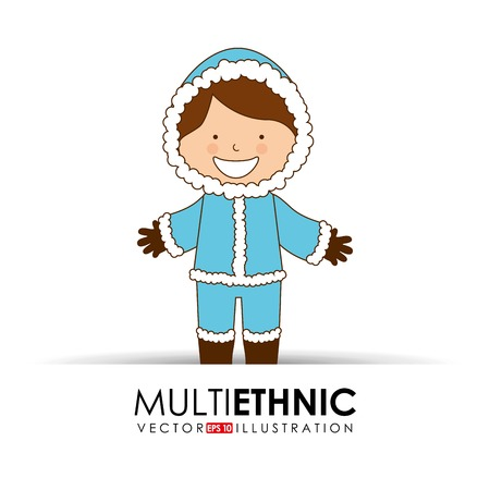 multi ethnic: multi ethnic design, vector illustration eps10 graphic Illustration
