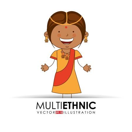 multi ethnic Vector Illustration