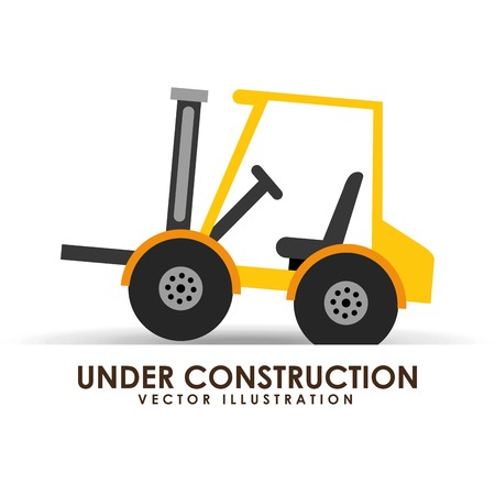 tractor warning sign: under construction