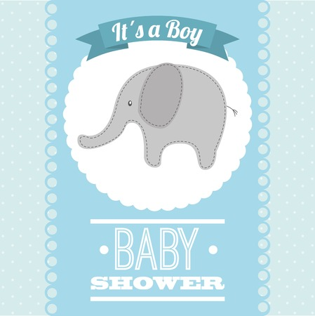baby boy announcement: baby shower