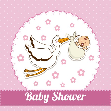 baby announcement card: baby shower design