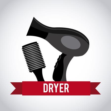 dryer: hair dryer design Illustration