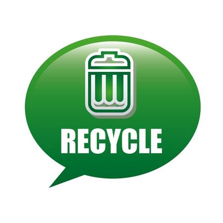 reciclar basura: basura de reciclaje Vectores