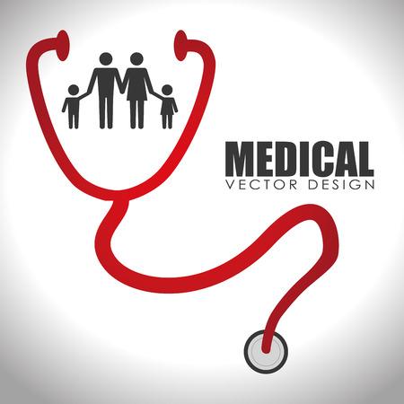 Medical design over white background, vector illustration.