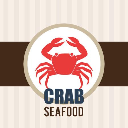 nutritive: Seafood design over white background, vector illustration.