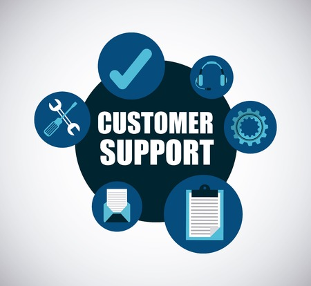 business support: customer support design, vector illustration eps10 graphic
