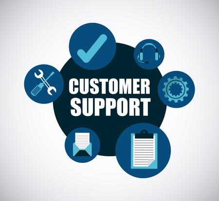 Diseño de atención al cliente, gráfico de vector ilustración eps10 Ilustración de vector