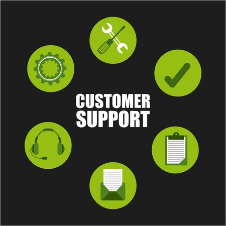 machine operator: customer support design, vector illustration eps10 graphic