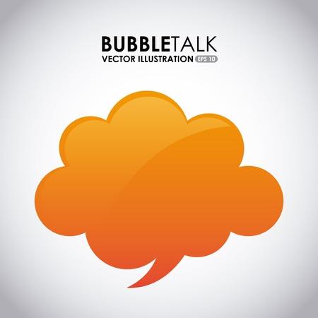 bubble talk: bubble talk design, vector illustration eps10 graphic Illustration