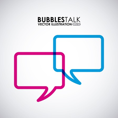 bubbles talk design, vector illustration eps10 graphic Vector