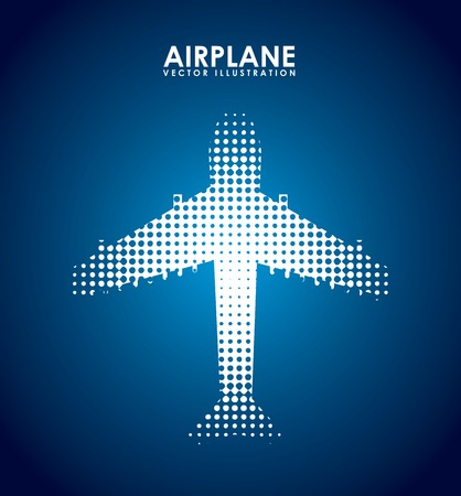 airplane icon: airplane icon design, vector illustration eps10 graphic Illustration