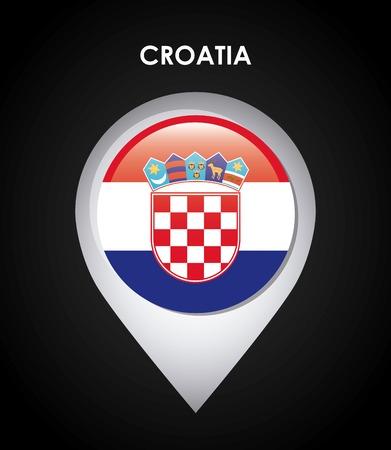 bandiera croazia: croazia bandiera disegno, illustrazione grafica vettoriale eps10