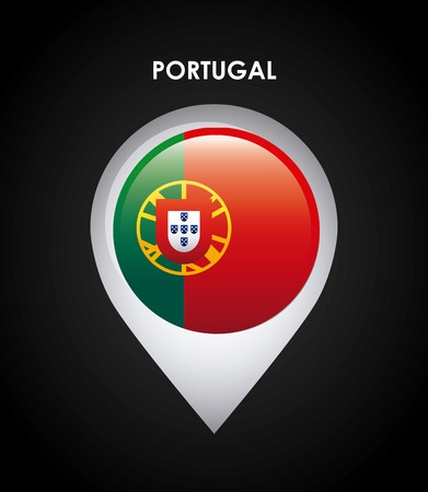 guia turistica: portugal dise�o de la bandera, ilustraci�n vectorial gr�fico eps10