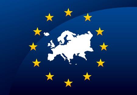 Design Union européenne, illustration graphique eps10 Banque d'images - 34951124